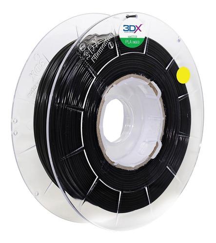 filamento pla 1,75 mm | 1kg | preto 3dx