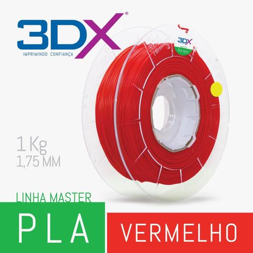 filamento pla 1,75 mm   1kg   vermelho
