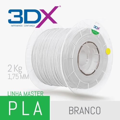 filamento pla 1,75 mm | 2kg | branco big