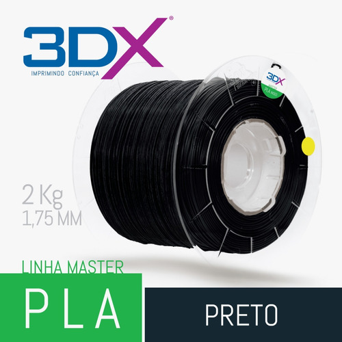 filamento pla 1,75 mm | 2kg | preto big