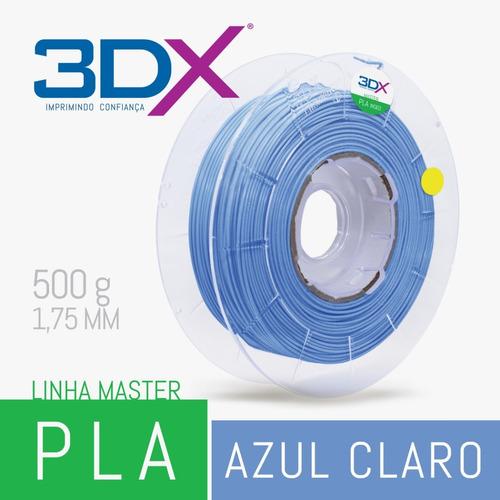 filamento pla 1,75 mm | 500g | azul claro