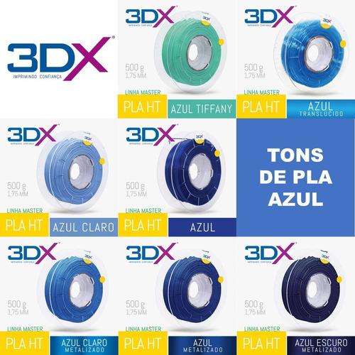 filamento pla 1,75 mm   500g   azul claro