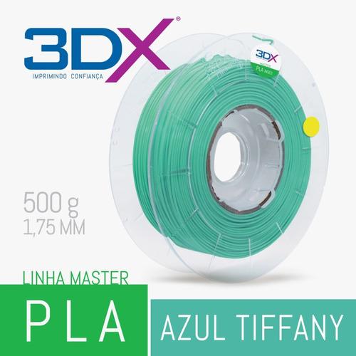 filamento pla 1,75 mm   500g   azul tifany