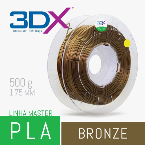 filamento pla 1,75 mm | 500g | bronze