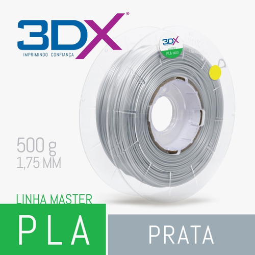 filamento pla 1,75 mm | 500g | prata