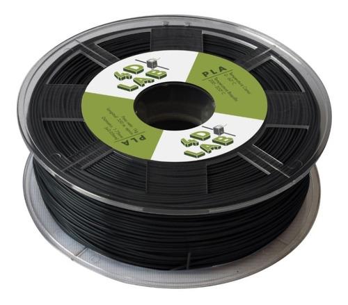 filamento pla  1,75 mm impresión 3d negro