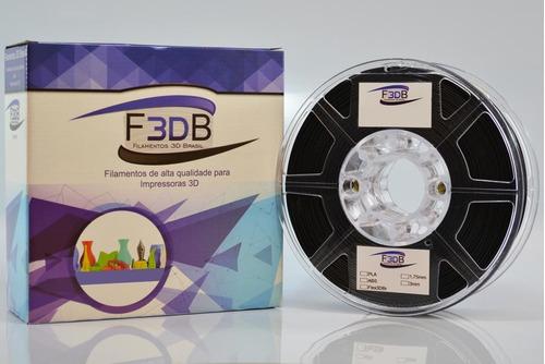 filamento pla 1,75mm de 0,5 kg cor preto para impressora 3d