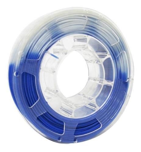 filamento pla cambia con temperatura azul a transparente 3d