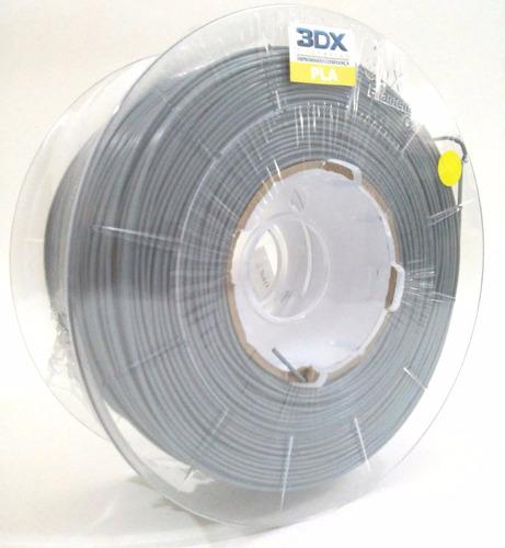 filamento pla cinza claro 1kg 1,75mm 3dx