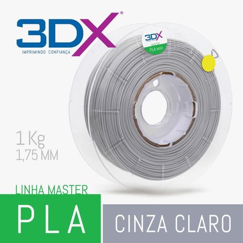 filamento pla cinza claro 1kg 1,75mm