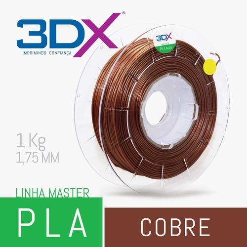 filamento pla cobre 1kg 1,75mm 3dx