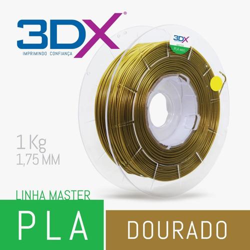 filamento pla dourado 1kg 1,75mm 3dx
