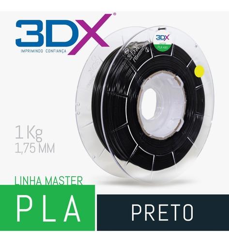 filamento pla ht preto 1,75 mm | 1kg | 3dx