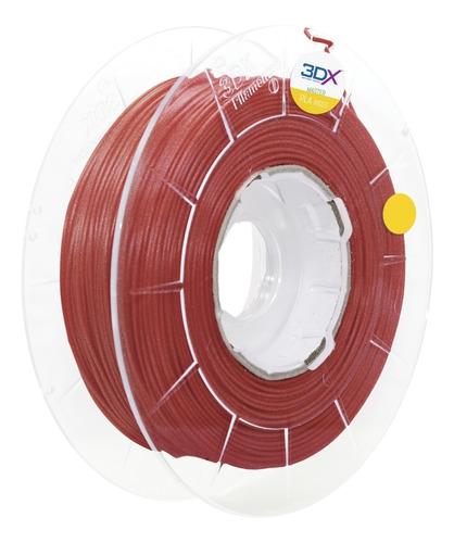 filamento pla vermelho metal 500g 1,75mm 3dx