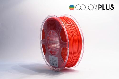 filamento rojo plus abs 3mm color plus 3d
