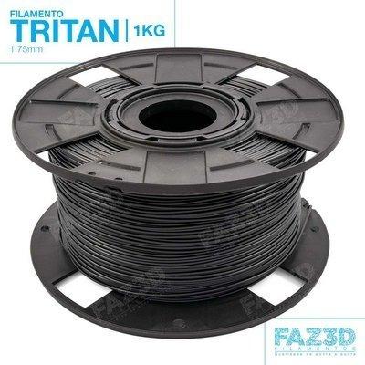 filamento tritan 1,75 mm | 1kg | preto - faz3d