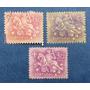 3 Estampillas Stamps Portugal 30 Ctvs 1.50 5 Esc Jinete