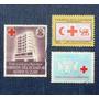 3 Estampillas Cruz Roja El Salvador 1919 Ecuador Colombia