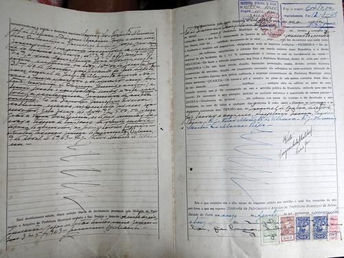filatelia fiscal certidão prefeitura municipal  belém - 1943
