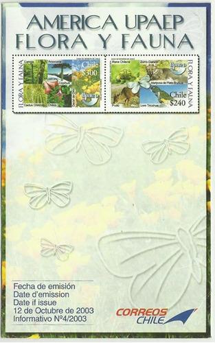 filatelia serie n° 2133 2134 de 2003  mint con folleto
