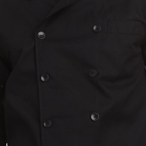 filipina 3/4 negra para chef acabado negro gabardina talla l