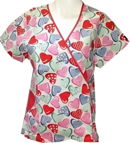 filipina médica dama tela nacional diseño corazones