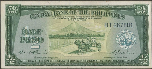 filipinas 1/2 peso nd1949 p132a
