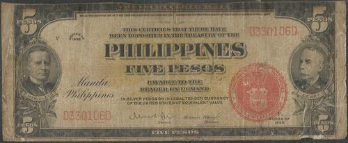 filipinas 5 piso 1936 p83b