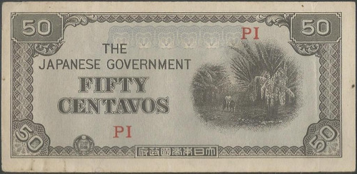 filipinas 50 centavos nd1942 p105a papel color