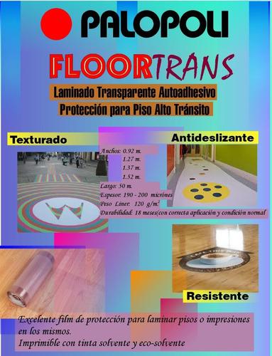 film autoadhesivo floortrans p/pisos transparente palopoli
