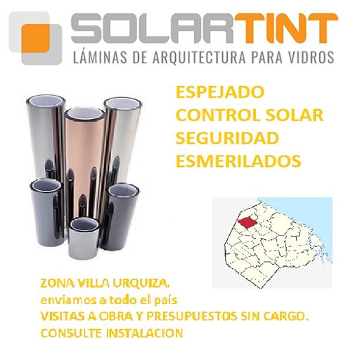 film control solar / espejado plata lamina  rollo 10mt-ofert