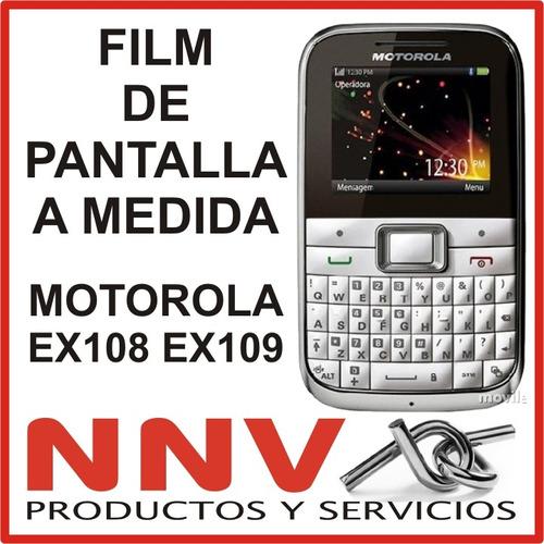 film de pantalla a medida motorola key mini ex108 ex109 -nnv