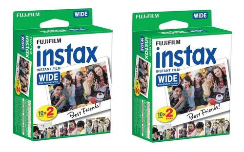 film fuji instax wide - 40 unidades