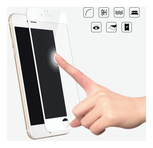 film glass vidrio templado iphone 7 8  plus  3d curvo