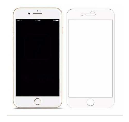 film glass vidrio templado iphone 7 8  plus  3d curvo
