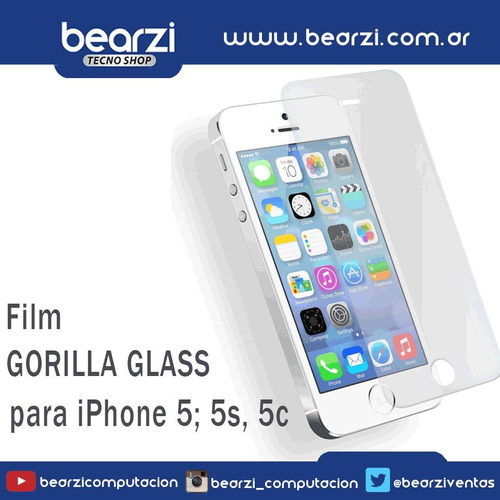 film gorilla glass para iphone 5 ; 5s ; 5c