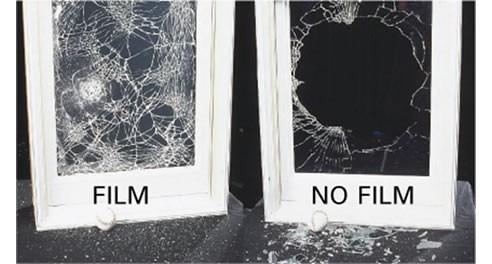film lámina anti-vandálica seguridad vidrios 200 micrones
