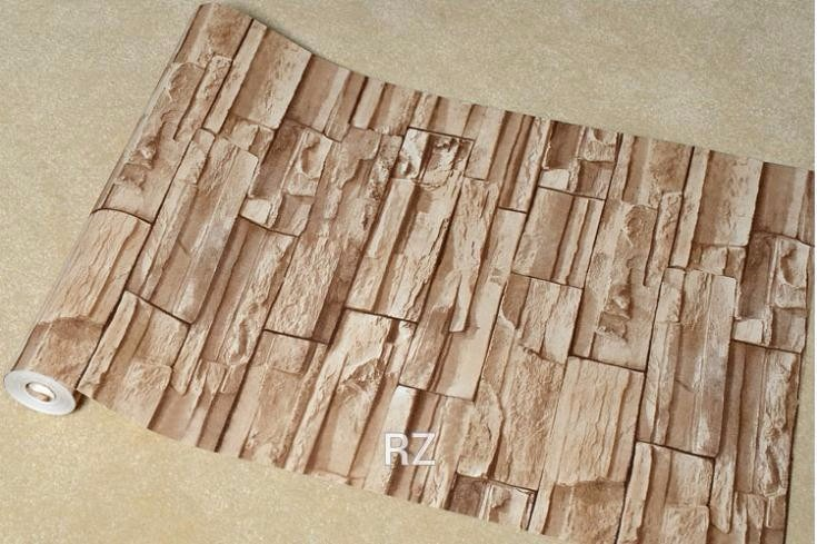 Film o papel adhesivo para empapelar paredes simil piedra for Papeles vinilicos para empapelar
