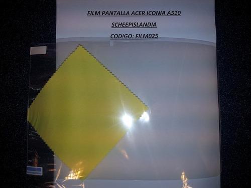 film pantalla acer iconia a510 film025