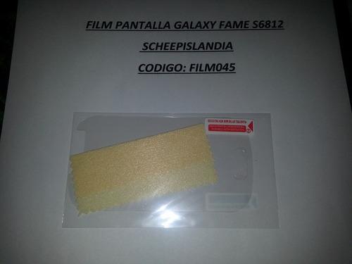film pantalla galaxy fame s6812 film045