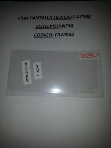 film pantalla lg nexus 4 e960 film042