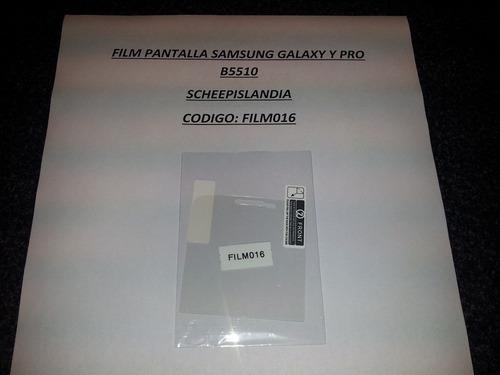 film pantalla samsung galaxy y pro b5510 film016