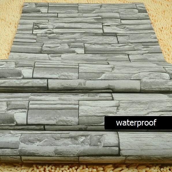 Film papel adhesivo empapelar paredes simil piedra 1x122 for Papel empapelar pared