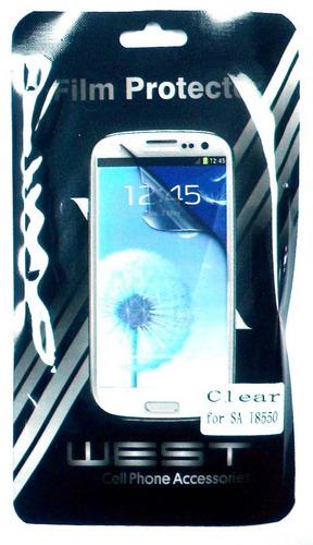 film para celular plastico samsung i8550 e5060