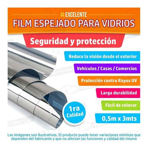 film polarizado espejado 50cm x 3mt privacidad auto casa