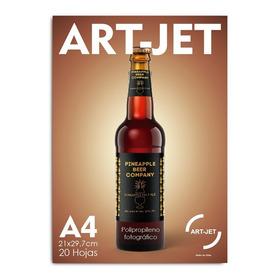 Film Polipropileno Brillante Adhesivado Art-jet® A4 20hojas