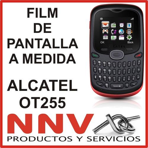 film protector de pantalla a medida alcatel ot255 - nnv