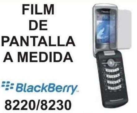 film protector de pantalla a medida de blackberry 8220/8230