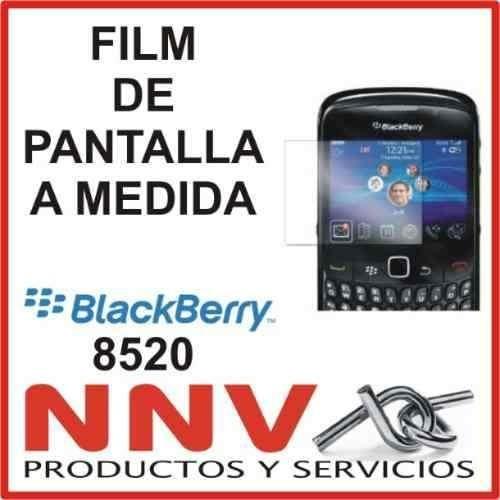 film protector de pantalla a medida de blackberry 8520 - nnv