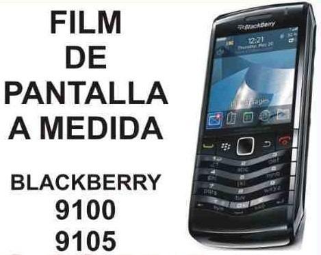 film protector de pantalla a medida de blackberry 9100/ 9105